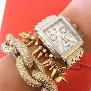 FULL SET Michele Deco diamond dial watch